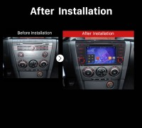2004 2005 2006 2007 2008-2009 Mazda 3 GPS Bluetooth DVD Car Radio after installation