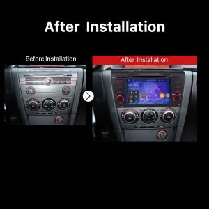 2004 2005 2006 2007 2008-2009 Mazda 3GPS Bluetooth DVD Car Radio after installation