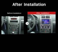 2004 2005 2006 2007 2008-2010 Peugeot 407 GPS Navi Car Radio after installation