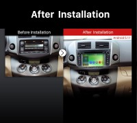 2008 2009 2010 2011 Toyota Rav4 Car Radio after installation