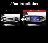 2015 Peugeot 308S Car Radio after instalation