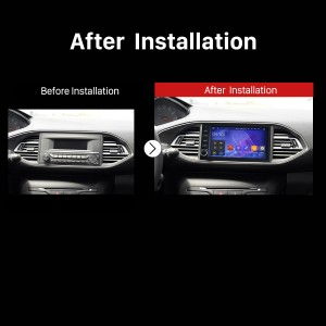 2015 Peugeot 308S Car Radio after instalation