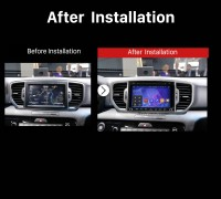 2016 Kia Sportage Android Sat Navi Stereo after installation