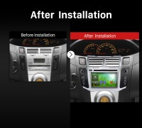 2005 2006 2007 2008 2009-2011 TOYOTA YARIS Car Radio after installation