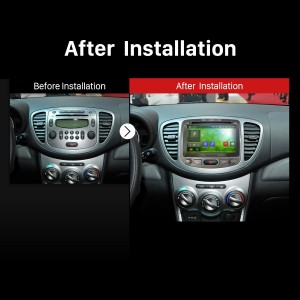 2006 2007 2008 2009 2010-2013 Hyundai i10 GPS Bluetooth DVD after installation
