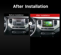 2013 2014 2015 2016 KIA CARENS Car Radio after installation
