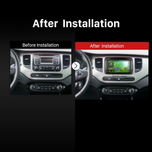 2013 2014 2015 2016 KIA CARENS Car Radio after installation