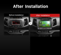2010 2011 2013 2014-2015 Kia Sportage R Car Radio after installation