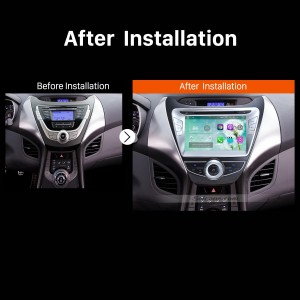 2011 2012 2013 Hyundai Elantra Car Radio after installation