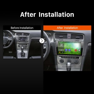 2013 2014 2015 VW Volkswagen Golf 7 Touch Screen Radio Stereo after installation