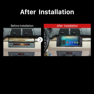 1996 1997 1998 1999 2000-2003 BMW 5 Series E39 520i 523i 525i M5 Bluetooth GPS Car Radio after installation