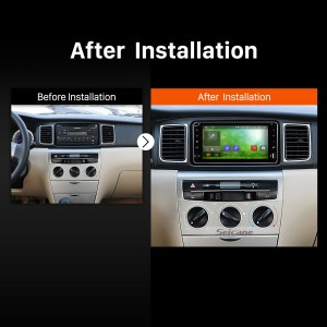 1996 1997 1998 1999 2000-2009 Toyota Prado GPS Bluetooth Car Radio after installation