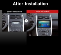 2004 2005 2006 2007 2008-2012 Mercedes Benz A Class W169 A150 A160 A170 Car Radio after installation