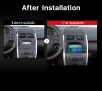 2004 2005 2006 2007 2008-2012 Mercedes Benz B Class W245 B150 B160 B170 B180 B200 B55 car radio after installation
