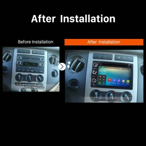 2004 2005 2006 2007 Ford Focus Mercury Montego 500 Car Radio after installation