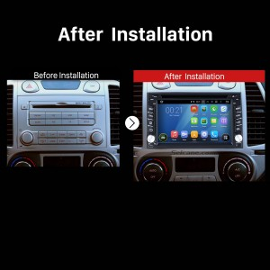 2005 2006 2007 Nissan SUNNY Car Radio Stereo DVD Player after installation