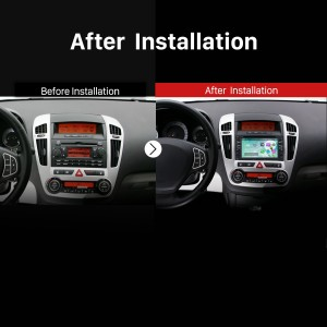 2006 2007 2008 2009 2010-2011 KIA Rondo Radio after installation