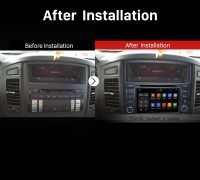 2006 2007 2008 2009 2010-2013 Mitsubishi PAJERO V97V93 Bluetooth GPS Car Radio after installation