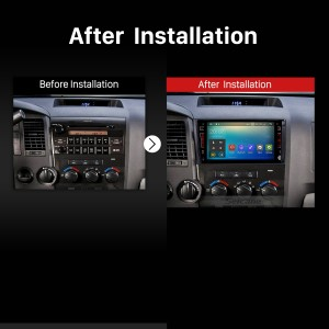 2008 2009 2010 2011 2012-2014 TOYOTA Sequoia Bluetooth Car Radio after installation