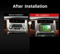 1998 1999 2000 2001 2002-2007 TOYOTA LAND CRUISER 100 Lexus LX 470 Car Radio after installation
