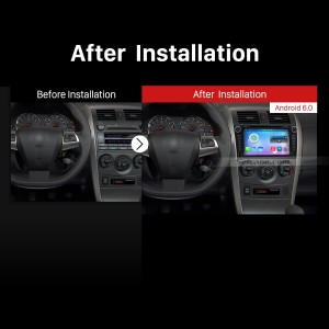 2006-2012 Toyota Corolla Car Radio after installation
