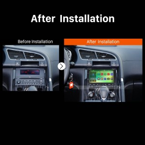 2008 2009 2010 2011 2012-2013 PEUGEOT 5008 GPS Bluetooth DVD Car Radio after installation