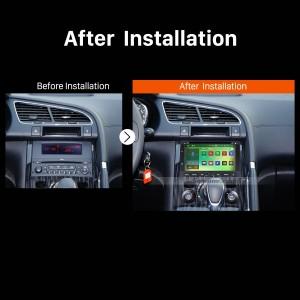 2008 2009 2010 2011 2012-2013 PEUGEOT 5008 GPS Bluetooth DVD Car Radio after installation