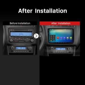 2012 2013 2014 2015 2016 Skoda Rapid Car Radio after installation