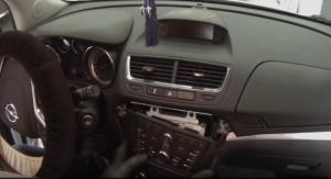Remove the original car radio panel