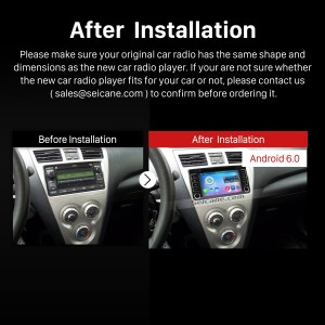 2000-2006 Toyota Corolla EX Bluetooth DVD Car Radio  after installation