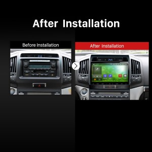 2004 2005 2006 2007 2008-2016 TOYOTA LAND CRUISER LC200 Car Radio after installation