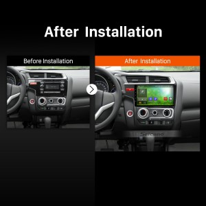 2014 2015 HONDA FIT GPS Bluetooth Car Radio after installation
