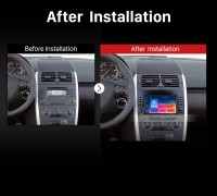 2004 2005 2006 2007-2012 Mercedes Benz A Class W169 A150 A160 A170 car radio after installation