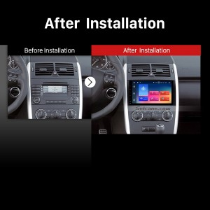 2004 2005 2006 2007-2012 Mercedes Benz B Class W245 B150 B160 B170 B180 B200 B55 car stereo after installation