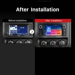 2005 2006 2007 2008-2011 Jeep Grand Cherokee Car Radio after installation
