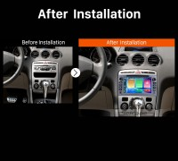 2010 2011 PEUGEOT 408 Car Radio after installation