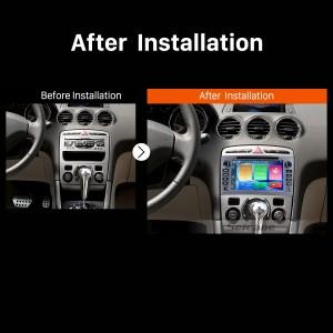 2010 2011 PEUGEOT 408 Car Radio after installation