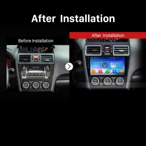 2014 2015 2016 Subaru Forester Car Radio after installation