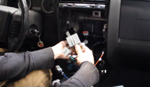 Make the original car's connector plug to the new car radio's power connector. And Make sure the rest of connectors and cables are plugged to the radio's right interfaces