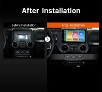 2011 2012 2013 2014 2015 2016 JEEP Wrangler car radio after installation