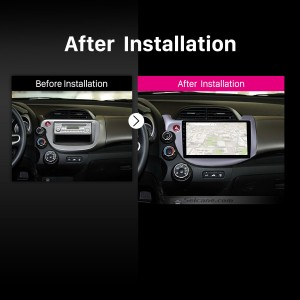 2007 2008 2009 2010-2013 Honda Fit Car Stereo after installation
