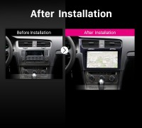 2013 2014 2015 VW Volkswagen Golf 7 car radio after installation