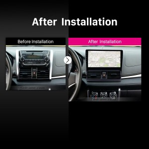 2013 2014 Toyota Vios Car Radio after installation