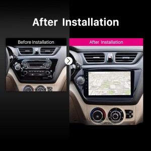 2011 2012 2013 2014-2015 Kia K2 RIO Car Stereo after installation