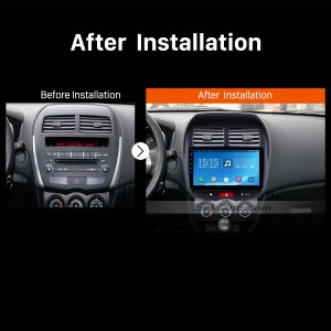 2012 PEUGEOT 4008 car radio after installation