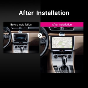 2012 2013 2014 VW Volkswagen Magotan B7 Bora Golf 6 car radio after installation