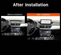 2009-2015 BMW X1 E84 car radio after installation