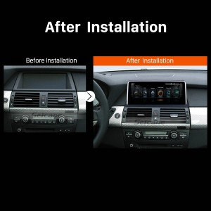 2011 2012 2013 2014 BMW X5 E70 X6 E71 CCC car radio after installation