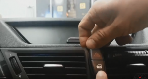 Open the panel and disconnect the harzard light,door lock and other connectors at the back