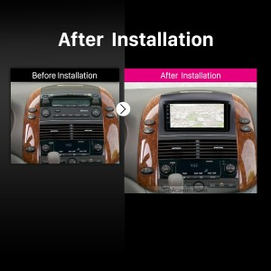 2004 2005 2006 2007 -2010 Toyota Sienna Car Stereo after installation